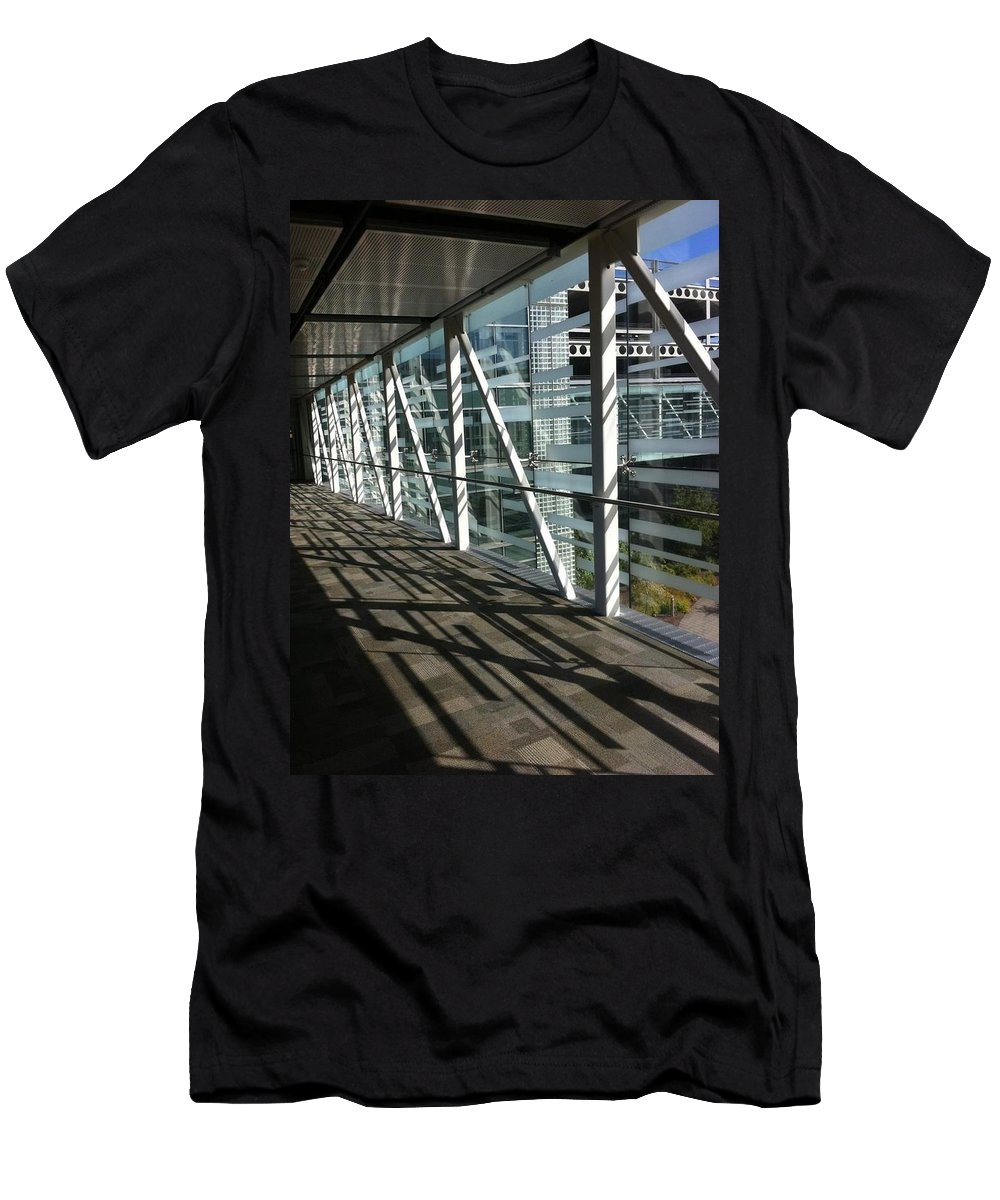 Architecture Patterns Repeat In Design Men's T-Shirt (Athletic Fit) featuring the photograph Repeat Patterns by Susan Garren