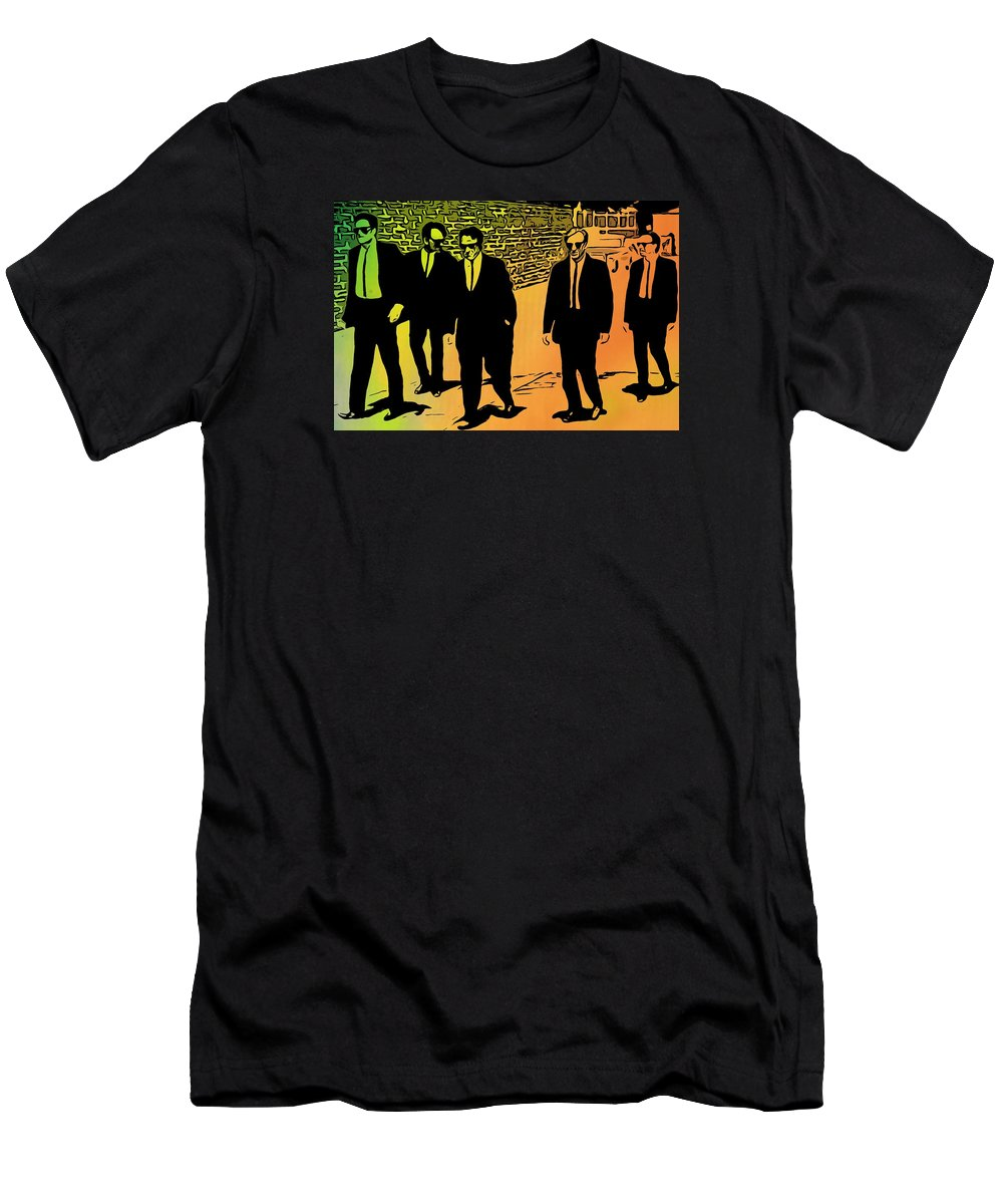 Reservoir Dogs Men's T-Shirt (Athletic Fit) featuring the digital art Reservoir Dogs by Dan Sproul