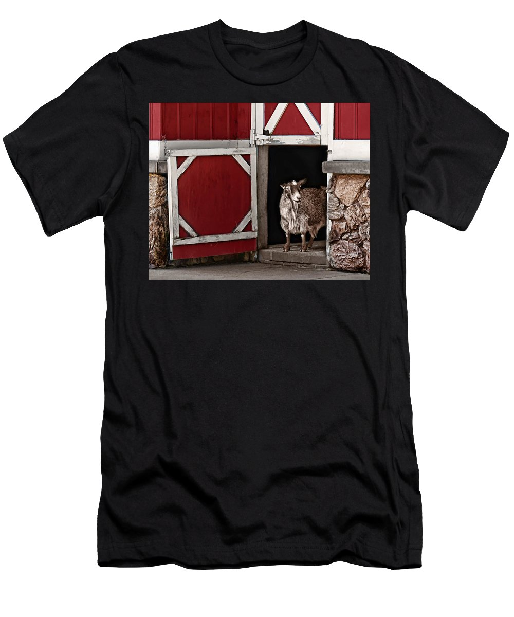 Goat Men's T-Shirt (Athletic Fit) featuring the photograph Resting Place by Nikolyn McDonald