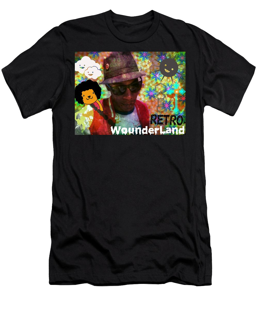 Tribal Men's T-Shirt (Athletic Fit) featuring the photograph Retro Wounderland by Alexander Ladd