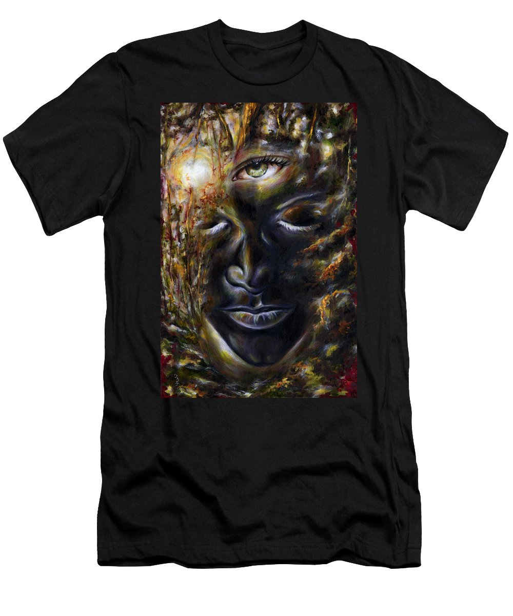 Eye Men's T-Shirt (Athletic Fit) featuring the painting Revelation by Hiroko Sakai