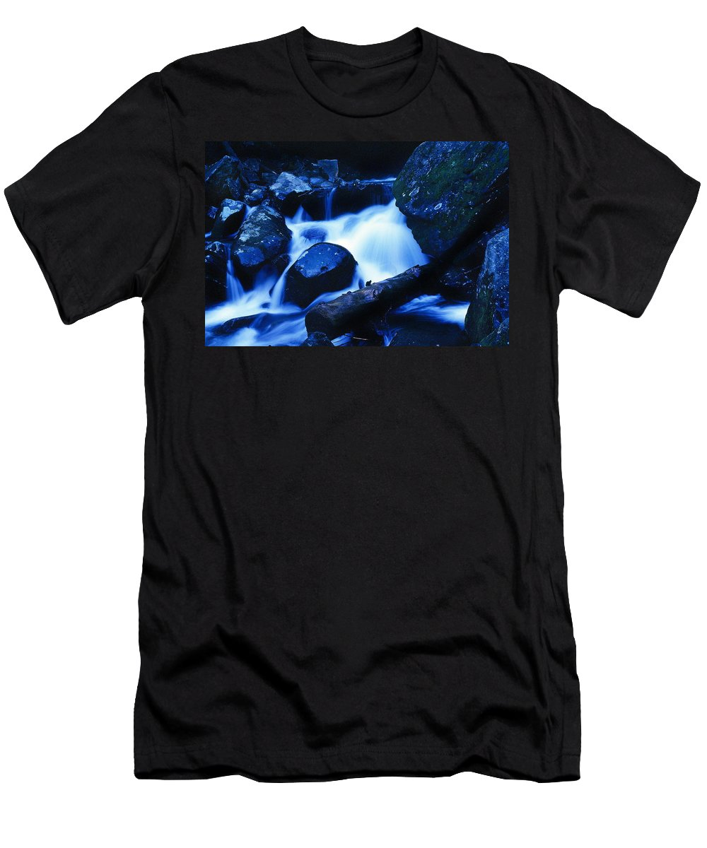 Fine Art Men's T-Shirt (Athletic Fit) featuring the photograph Rhapsody In Blue by Rodney Lee Williams