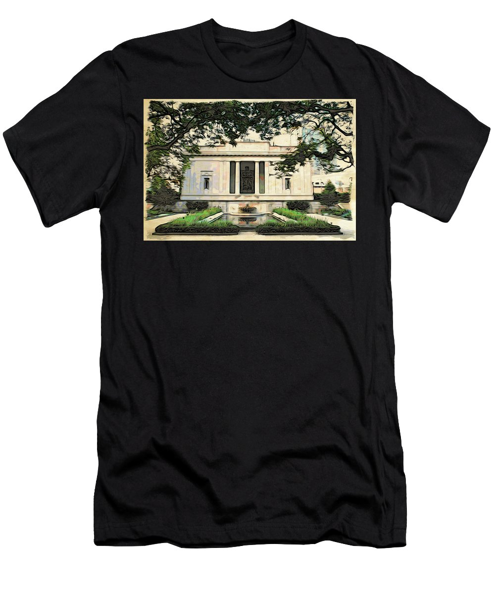 Philadelphia Men's T-Shirt (Athletic Fit) featuring the photograph Rhodin Garden View by Alice Gipson
