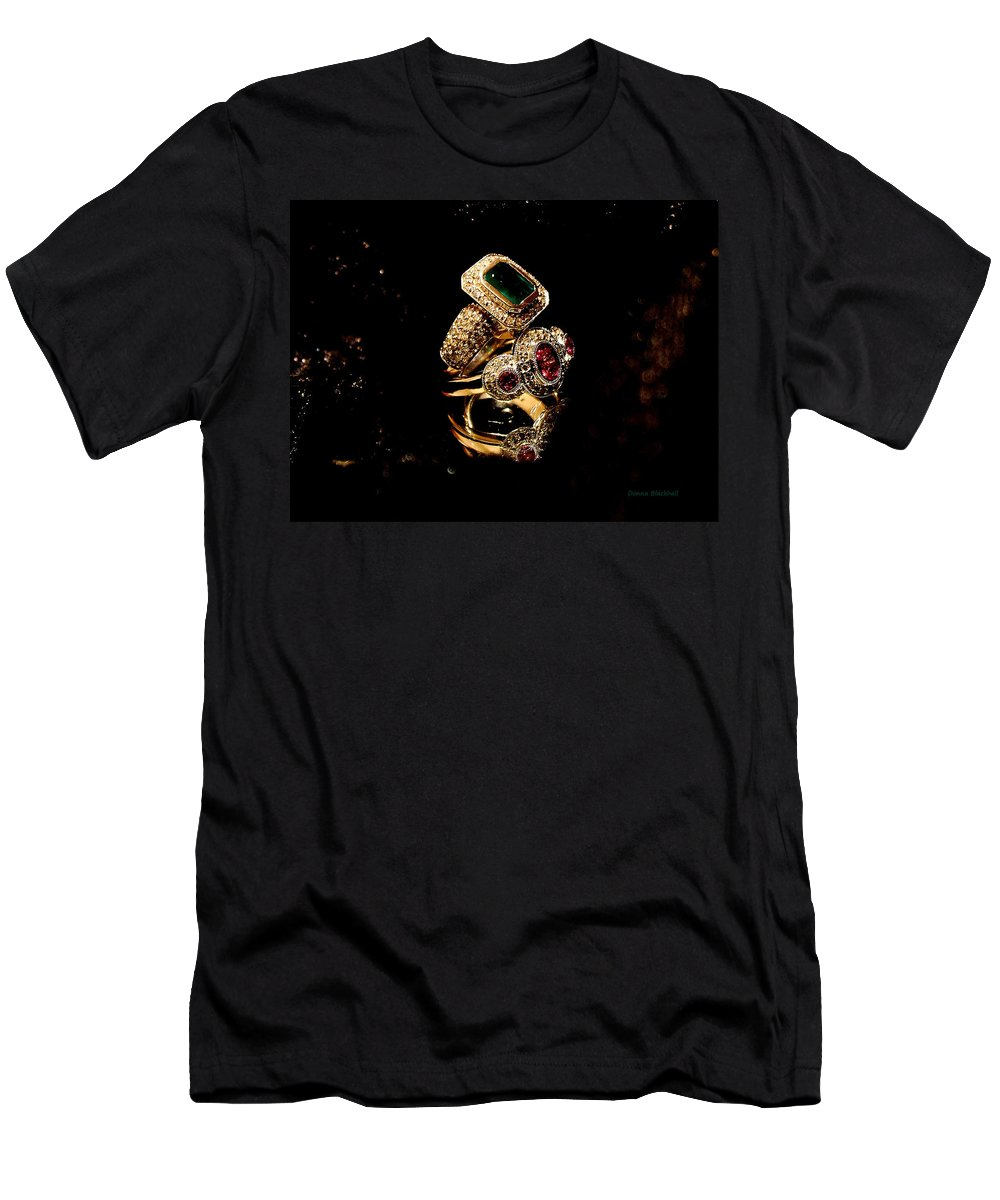 Jewelry Men's T-Shirt (Athletic Fit) featuring the photograph Ringing by Donna Blackhall