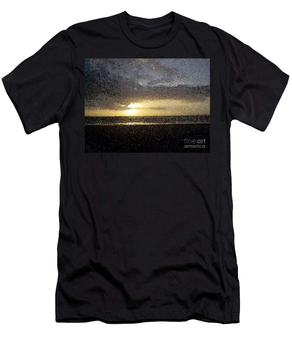 Sunrise Men's T-Shirt (Athletic Fit) featuring the photograph Rising Light by Flamingo Graphix John Ellis