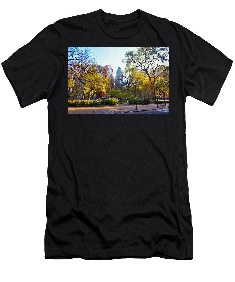 Rittenhouse Men's T-Shirt (Athletic Fit) featuring the photograph Rittenhouse Square In The Spring by Bill Cannon
