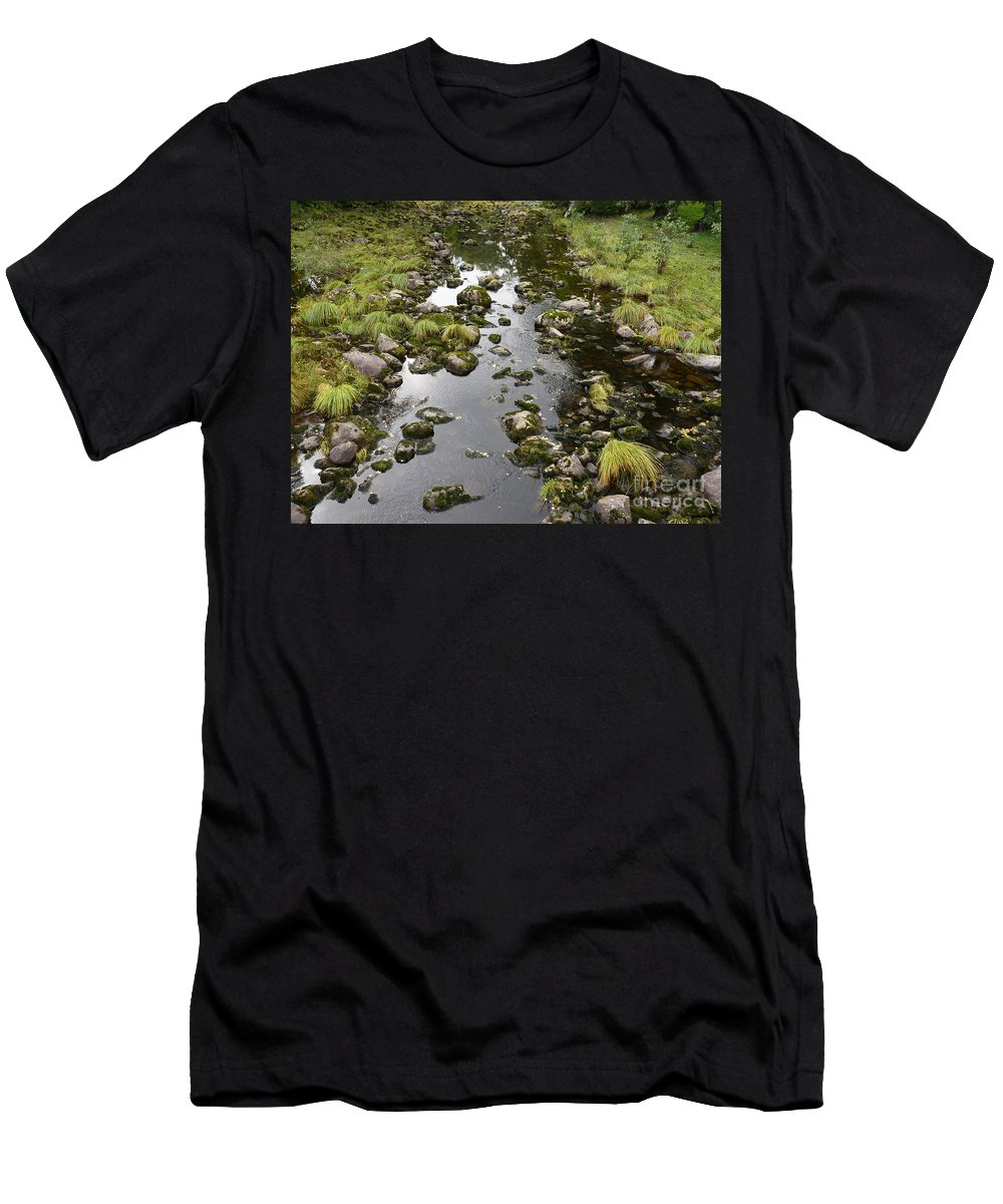 Riverbed Men's T-Shirt (Athletic Fit) featuring the photograph Riverbed by Kerstin Ivarsson