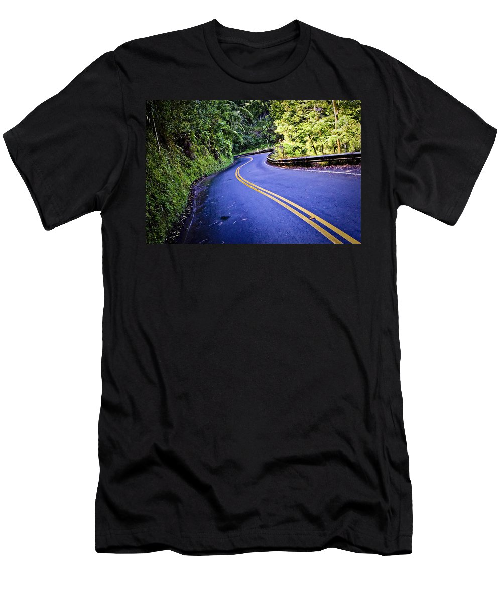 3scape Men's T-Shirt (Athletic Fit) featuring the photograph Road To Hana by Adam Romanowicz