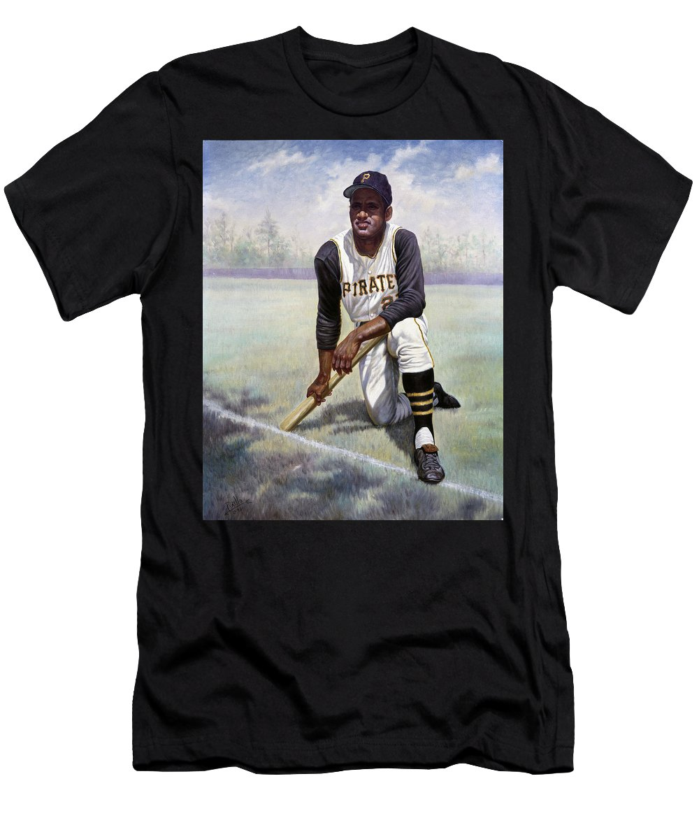 lower price with c9860 55509 Roberto Clemente Men's T-Shirt (Athletic Fit)