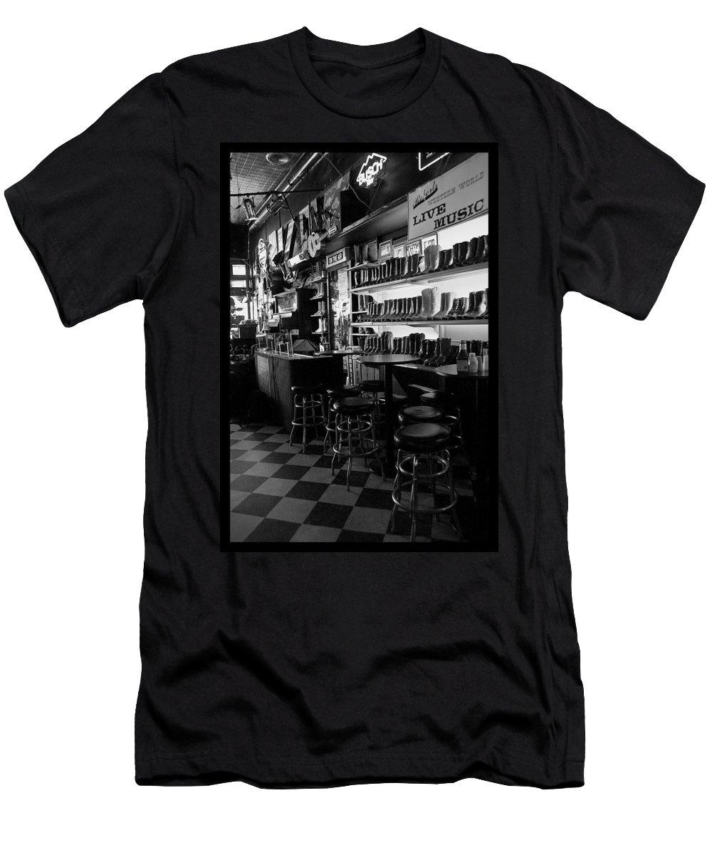 Nashville Men's T-Shirt (Athletic Fit) featuring the photograph Roberts Western World by Sheri Bartoszek
