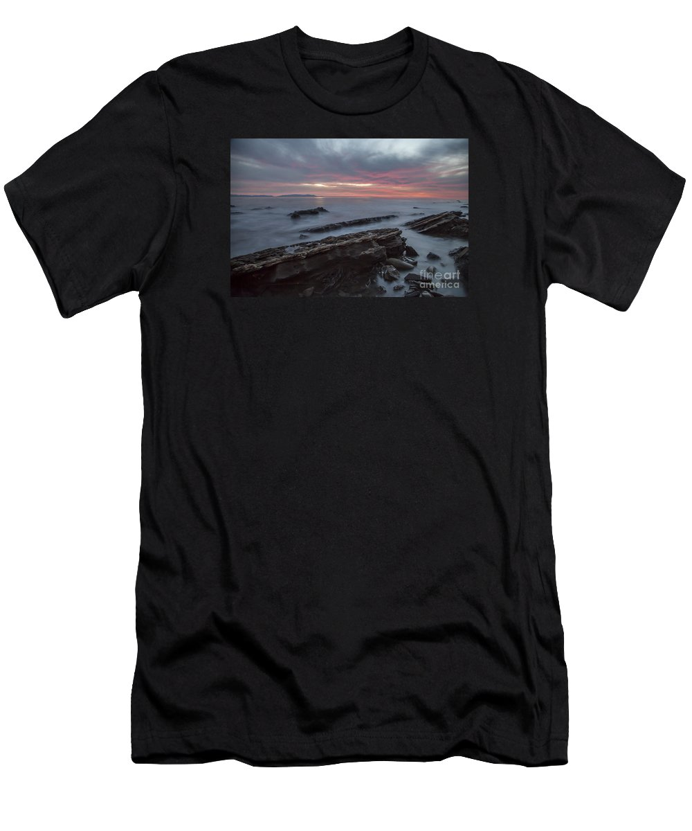 San Pedro Men's T-Shirt (Athletic Fit) featuring the photograph Rocky Shore by James Souter