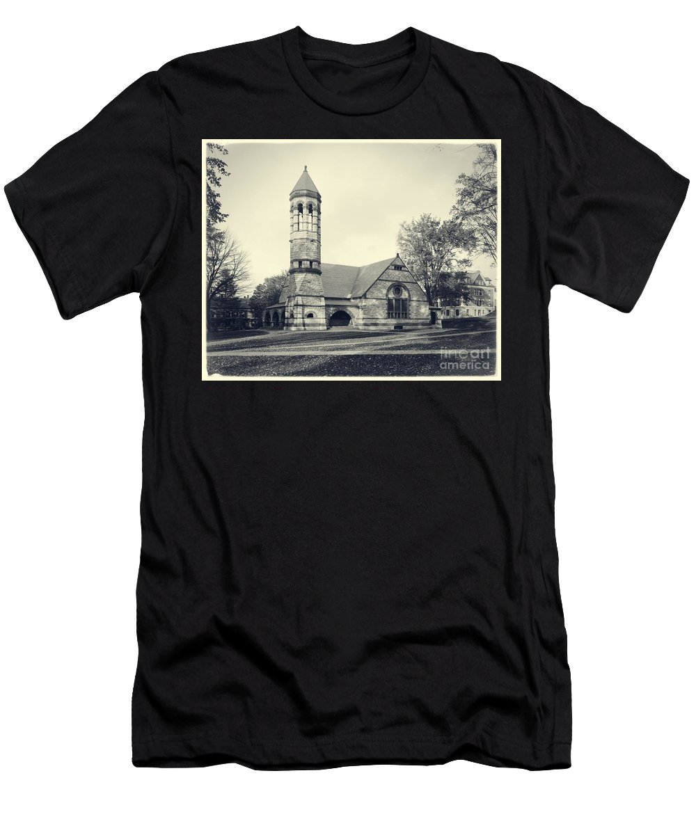 Rollins Men's T-Shirt (Athletic Fit) featuring the photograph Rollins Chapel Dartmouth College Hanover New Hampshire by Edward Fielding