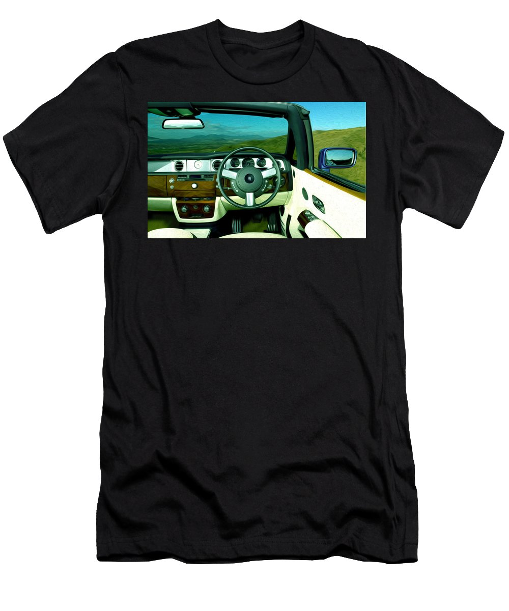 New Men's T-Shirt (Athletic Fit) featuring the painting Rolls Royce 8 by Jeelan Clark