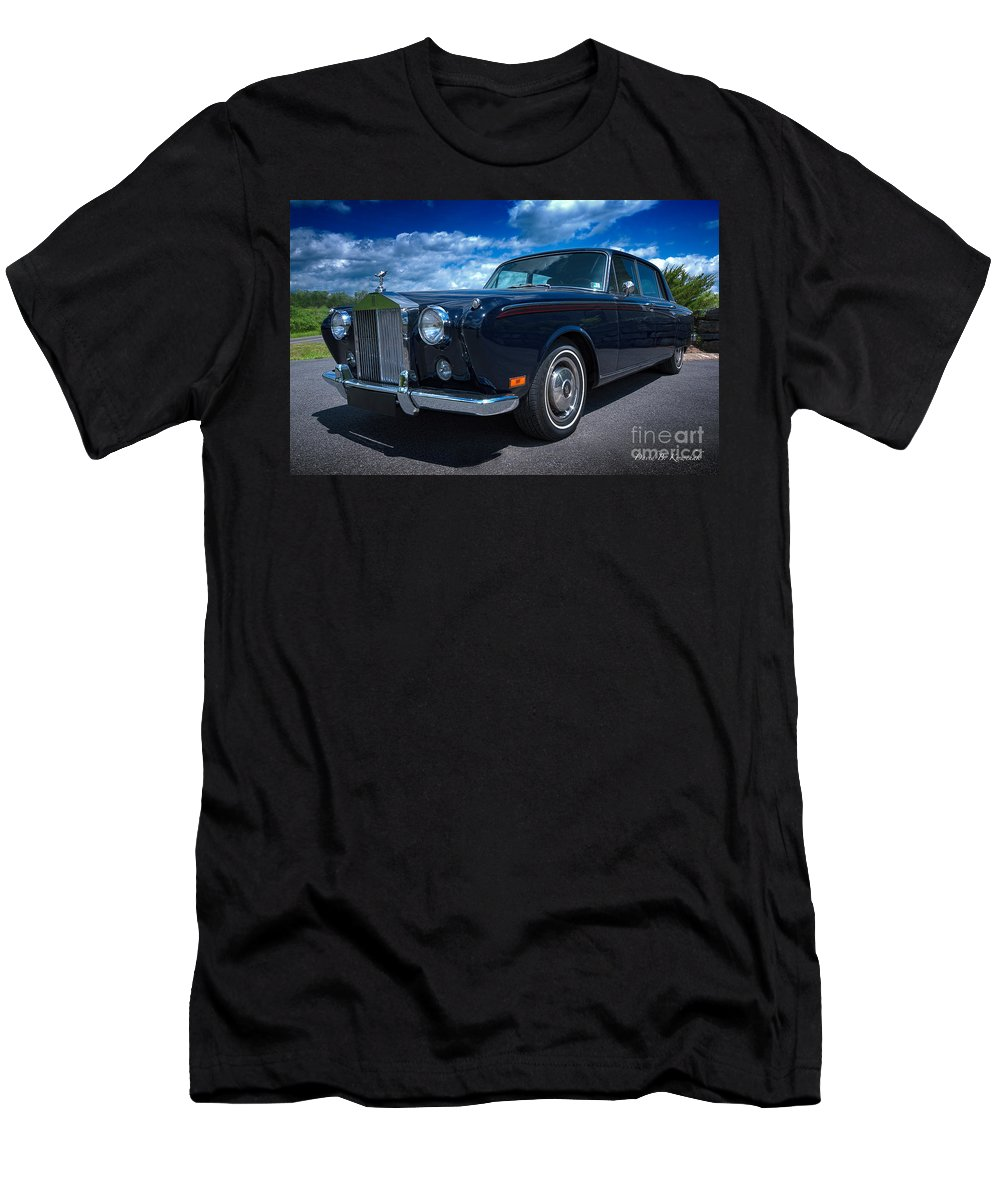 Rolls Royce Men's T-Shirt (Athletic Fit) featuring the photograph Rolls Royce by David B Kawchak Custom Classic Photography