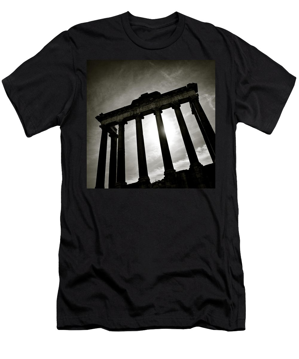 Roman Forum Men's T-Shirt (Athletic Fit) featuring the photograph Roman Forum by Dave Bowman