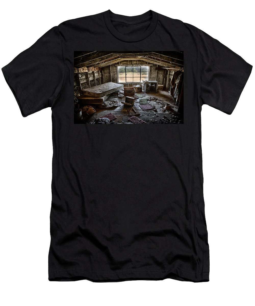 Attic Men's T-Shirt (Athletic Fit) featuring the photograph Room With A View by Robert Woodward