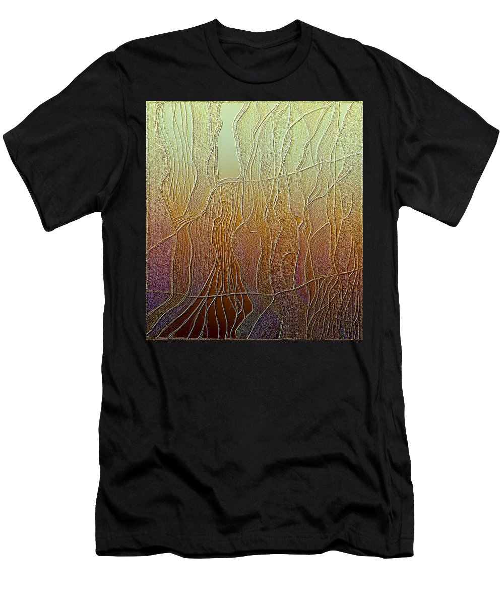 Roots Men's T-Shirt (Athletic Fit) featuring the digital art Roots by Judith Chantler
