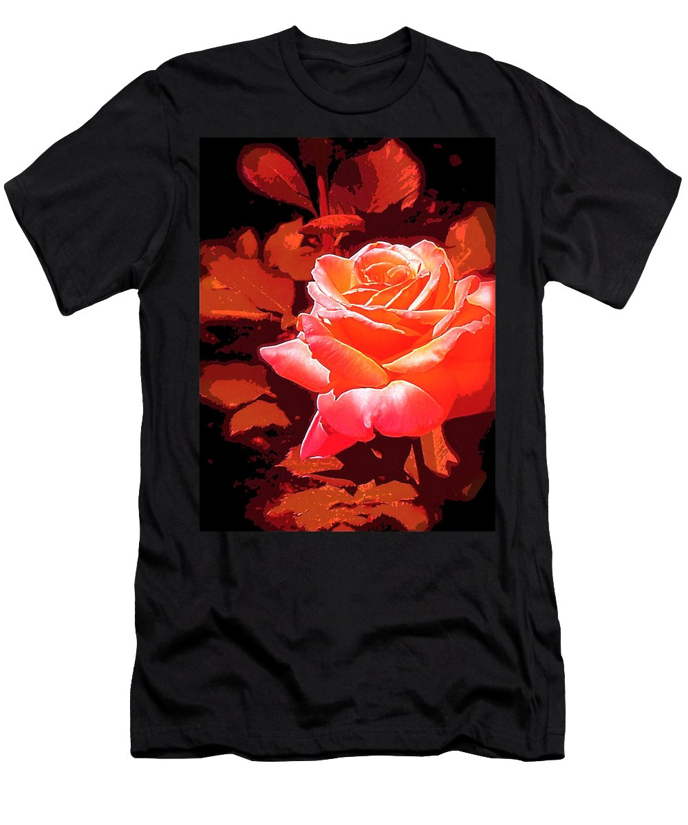 Rose Men's T-Shirt (Athletic Fit) featuring the photograph Rose 1 by Pamela Cooper