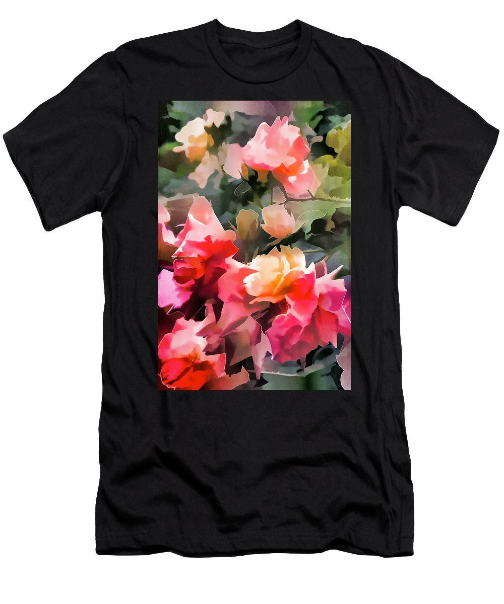 Floral Men's T-Shirt (Athletic Fit) featuring the photograph Rose 274 by Pamela Cooper