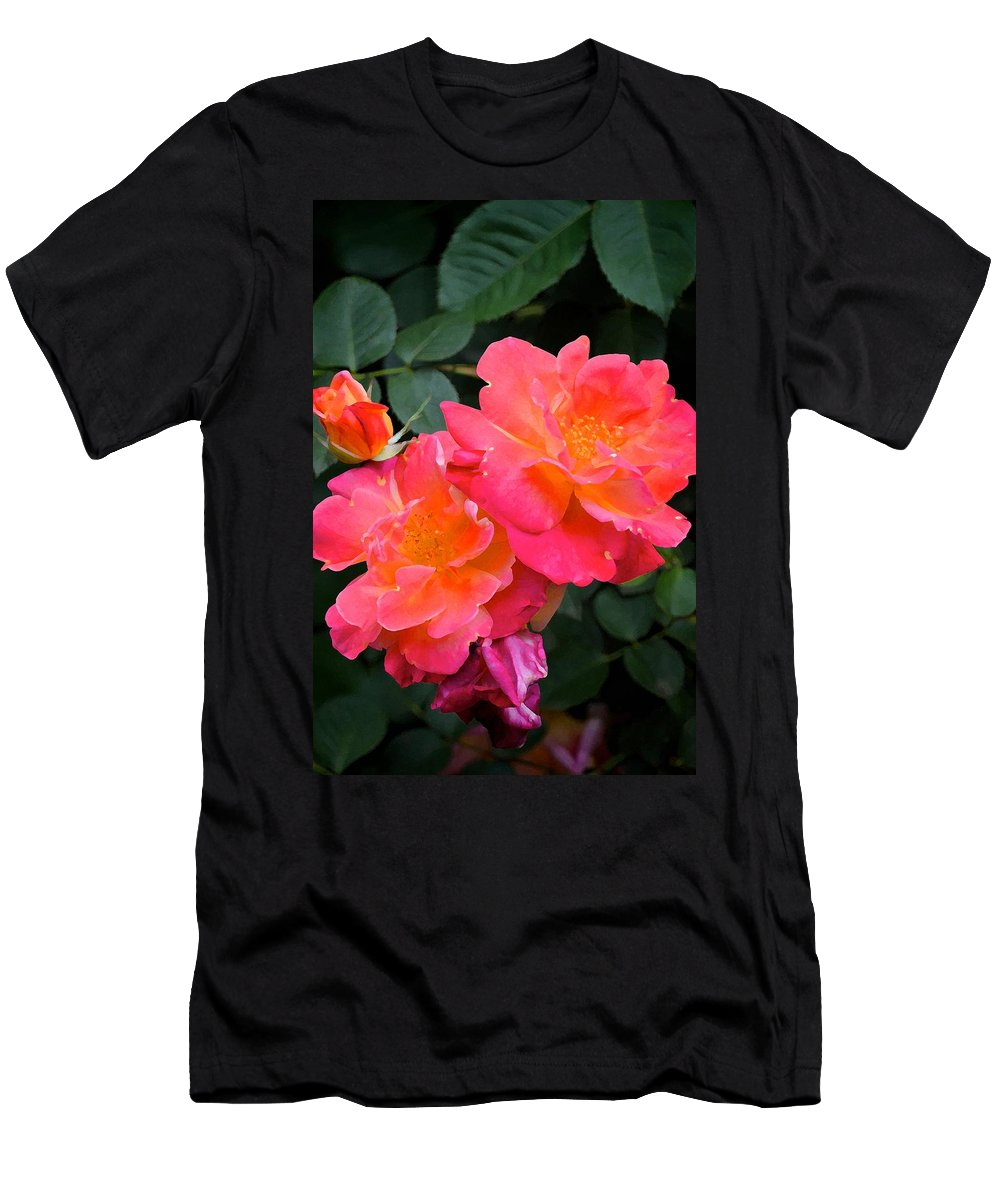 Floral Men's T-Shirt (Athletic Fit) featuring the photograph Rose 283 by Pamela Cooper