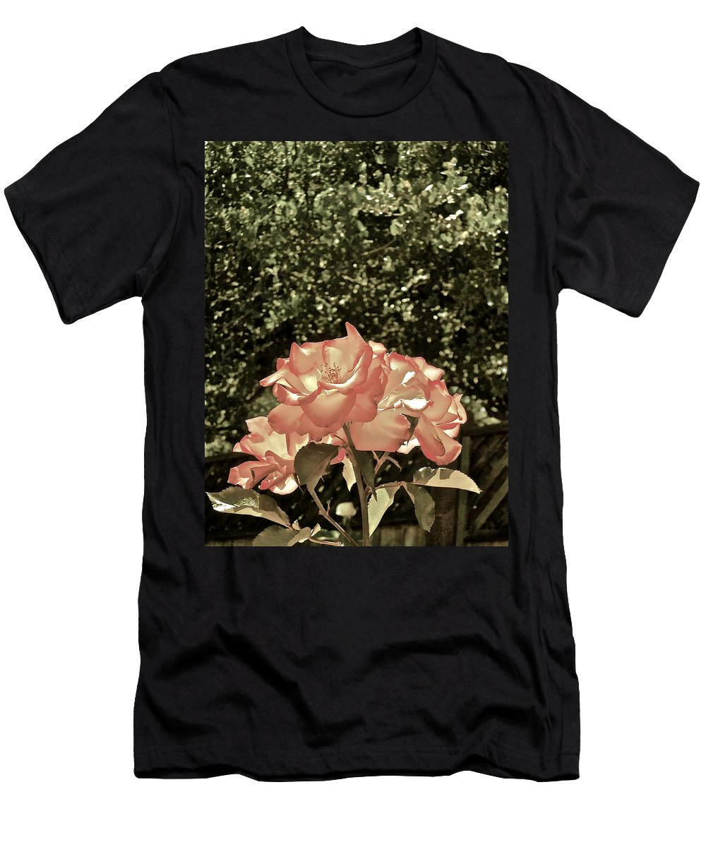 Flowers Men's T-Shirt (Athletic Fit) featuring the photograph Rose 55 by Pamela Cooper