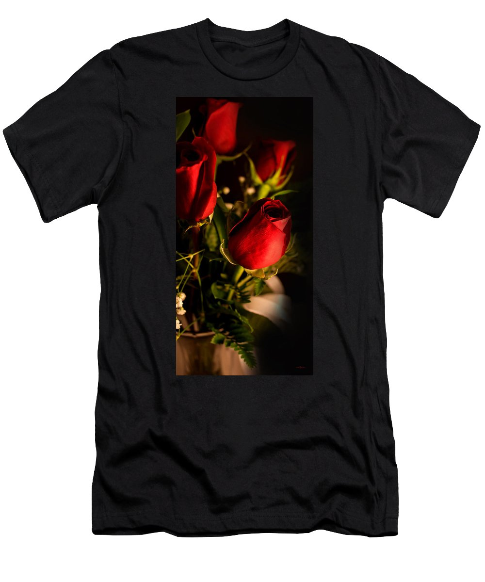 Rose Bouquet Men's T-Shirt (Athletic Fit) featuring the photograph Rose Bouquet by Mechala Matthews