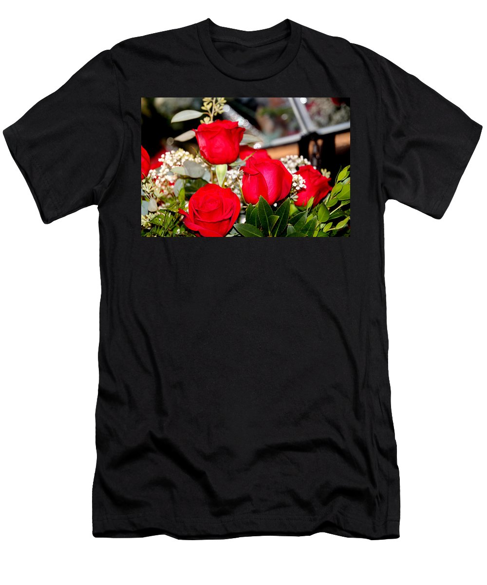 Rose Men's T-Shirt (Athletic Fit) featuring the photograph Roses by Ericamaxine Price