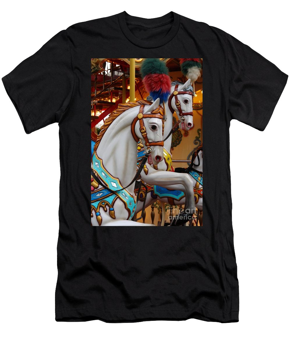 Carousel Men's T-Shirt (Athletic Fit) featuring the photograph Round And Round And Round by Brothers Beerens