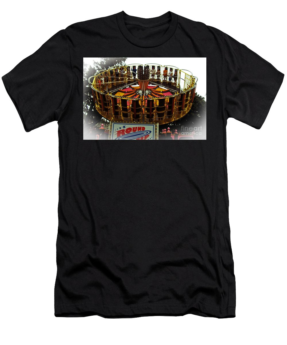 Carnival Men's T-Shirt (Athletic Fit) featuring the photograph Round Up Dream by Kevin Fortier