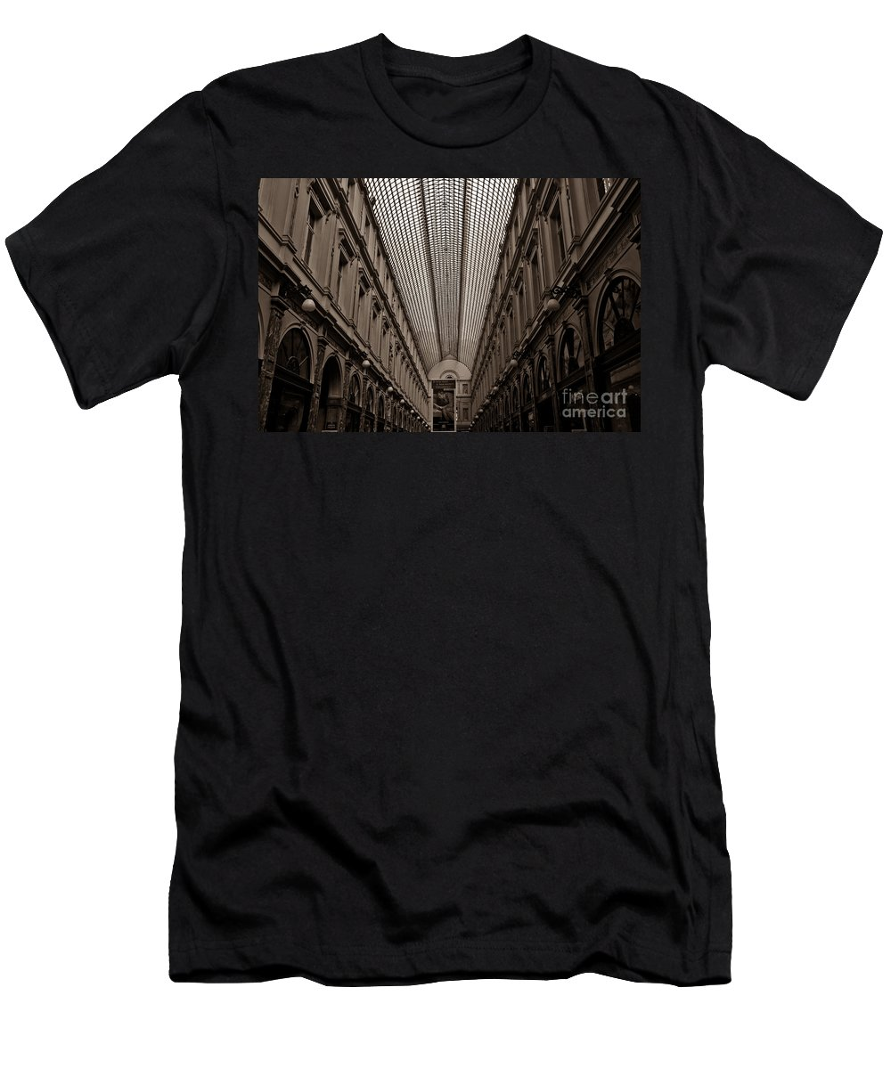 Shopping Arcade Men's T-Shirt (Athletic Fit) featuring the photograph Royal Galleries Of Saint-hubert by Brothers Beerens