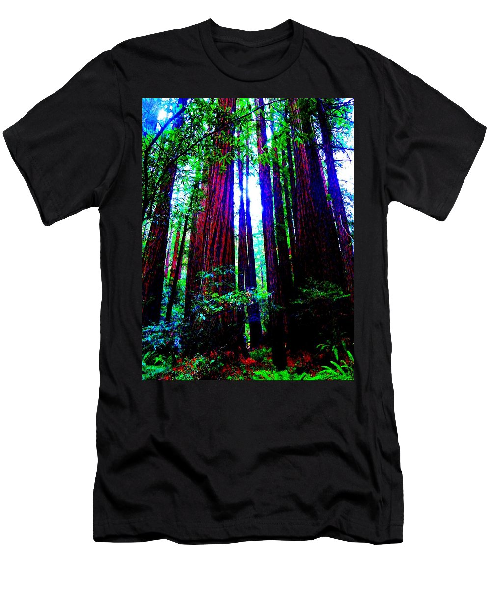 Muir Woods National Monument Men's T-Shirt (Athletic Fit) featuring the photograph Royalty by Cathleen Cario-Reece
