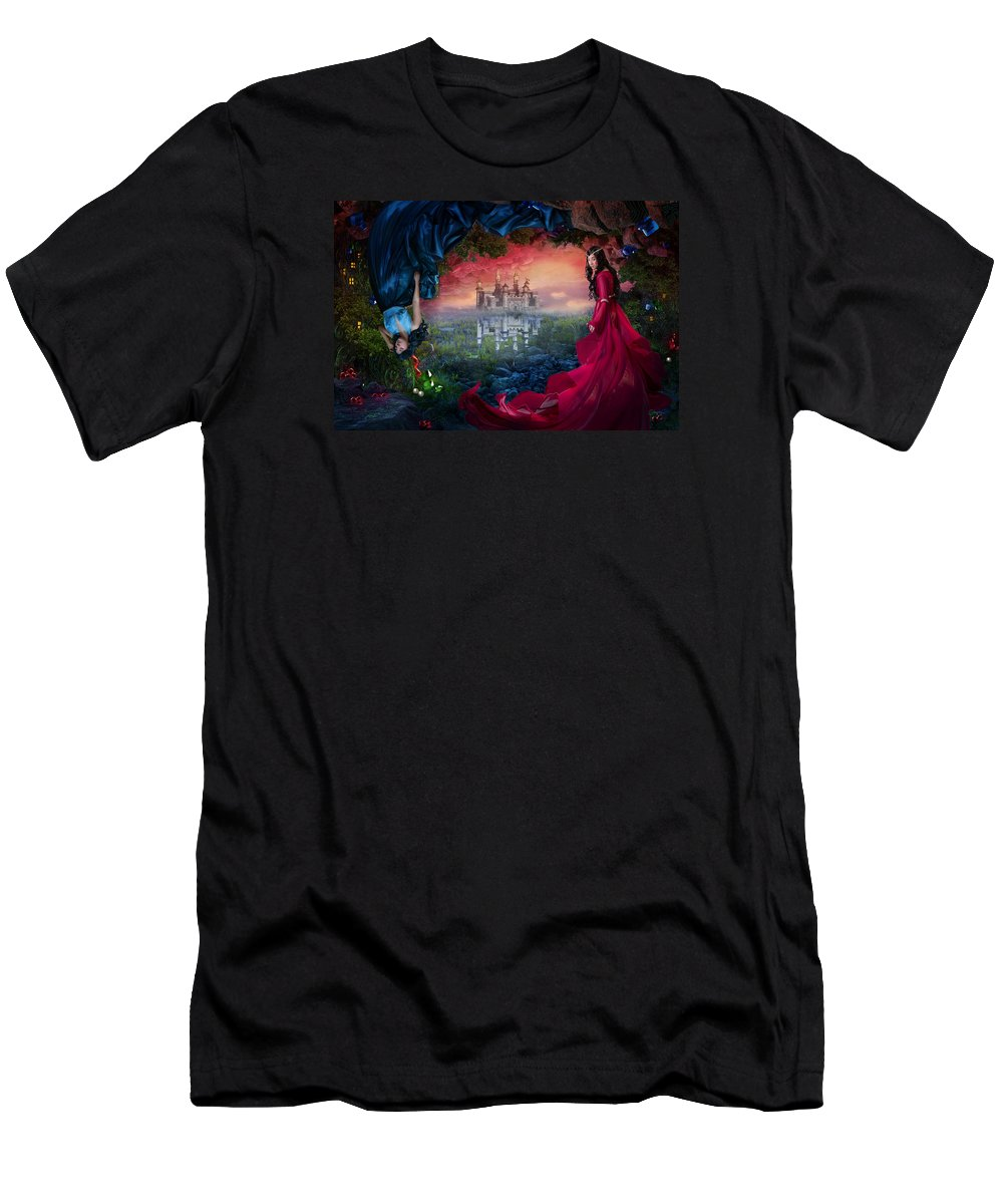 Fantasy Men's T-Shirt (Athletic Fit) featuring the digital art Ruby by Cassiopeia Art