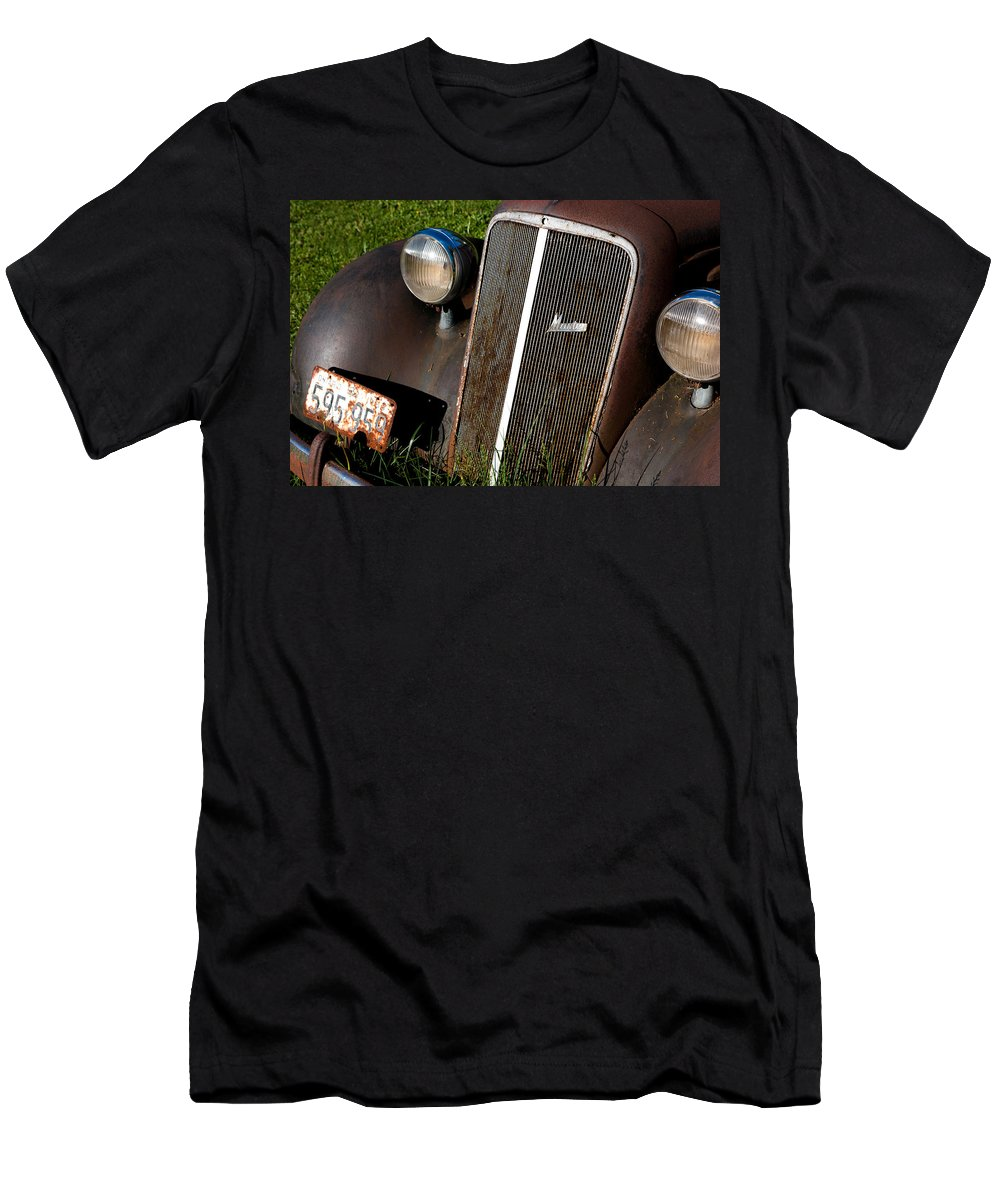 Car Men's T-Shirt (Athletic Fit) featuring the photograph Rusted Master by Cale Best