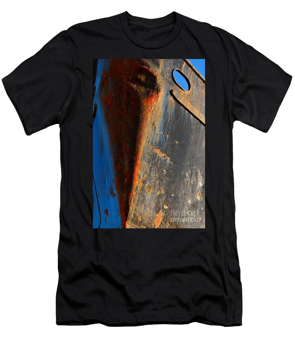 Abstract Men's T-Shirt (Athletic Fit) featuring the photograph Rusty Vee by Lauren Leigh Hunter Fine Art Photography