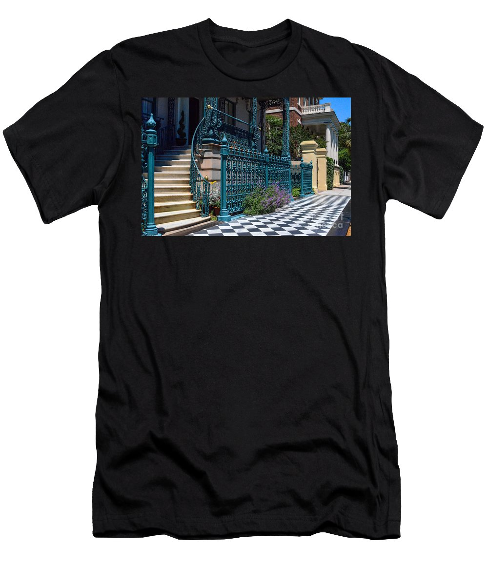 John Rutledge House Inn Men's T-Shirt (Athletic Fit) featuring the photograph Rutledge B And B by Dale Powell