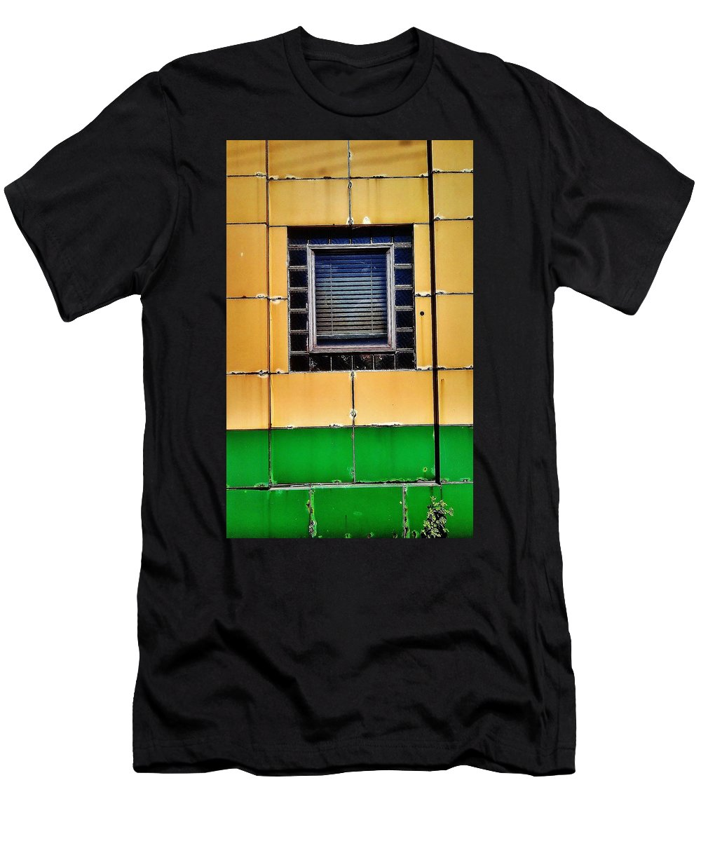Delray Men's T-Shirt (Athletic Fit) featuring the photograph S. Port And W. Jefferson by Daniel Thompson