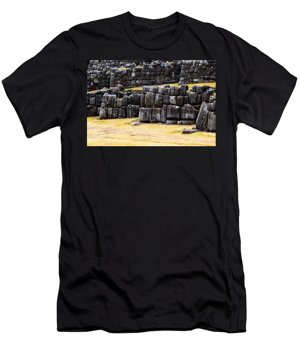 Cuzco Men's T-Shirt (Athletic Fit) featuring the photograph Sacsayhuaman by Mariusz Prusaczyk