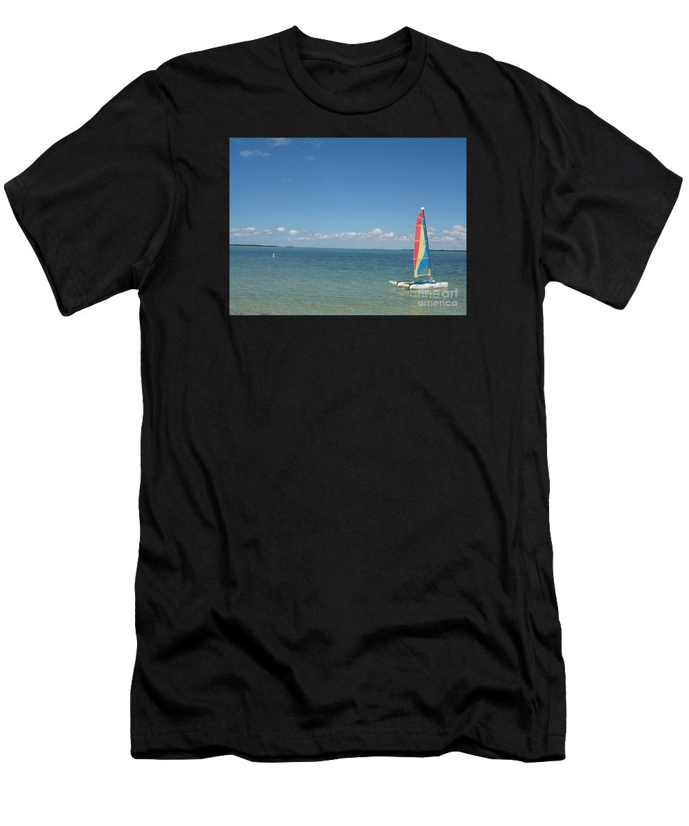Sailing Men's T-Shirt (Athletic Fit) featuring the photograph Sailing At Key Largo by Christiane Schulze Art And Photography
