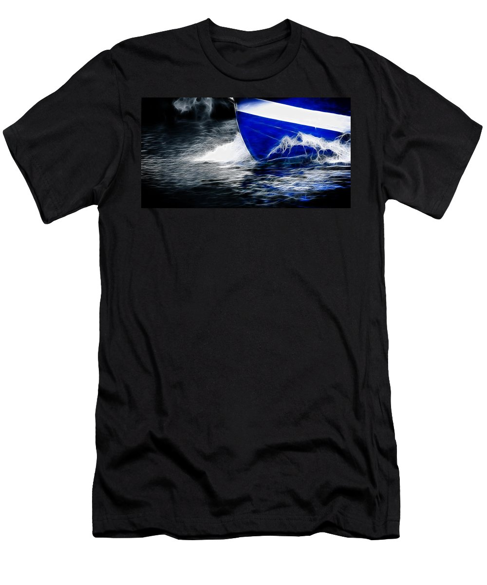 Sea Men's T-Shirt (Athletic Fit) featuring the photograph Sailing In Blue by Sotiris Filippou