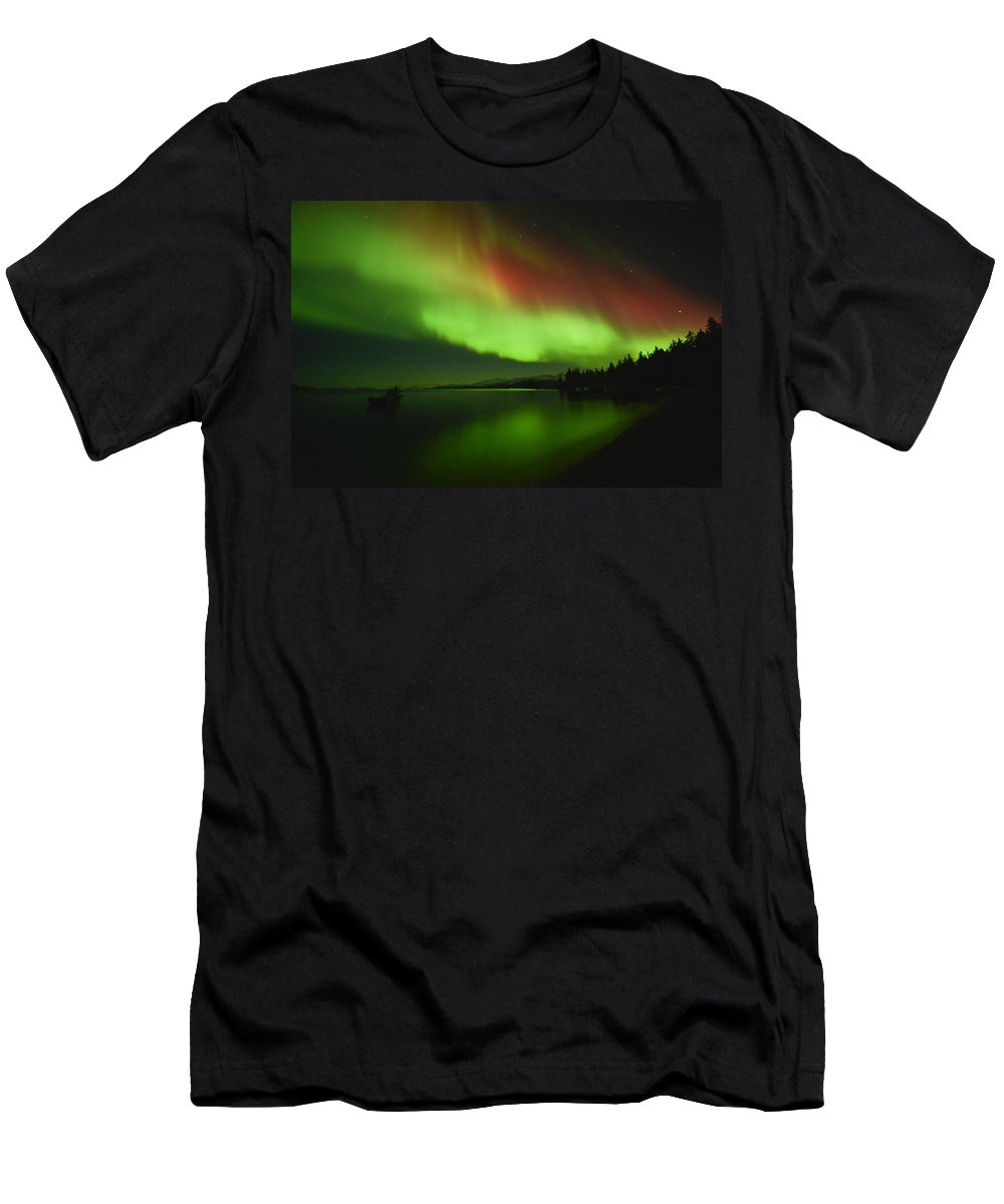 Aurora Men's T-Shirt (Athletic Fit) featuring the photograph Sailors Delight by Ted Raynor