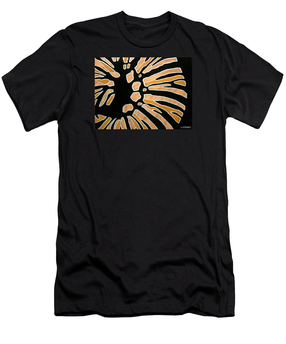 Butterfly Men's T-Shirt (Athletic Fit) featuring the painting Saint Danaus Plexippus Study by Jennifer Counts