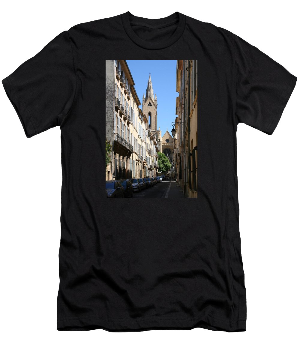 Church Men's T-Shirt (Athletic Fit) featuring the photograph Saint Jean De Malte - Aix En Provence by Christiane Schulze Art And Photography