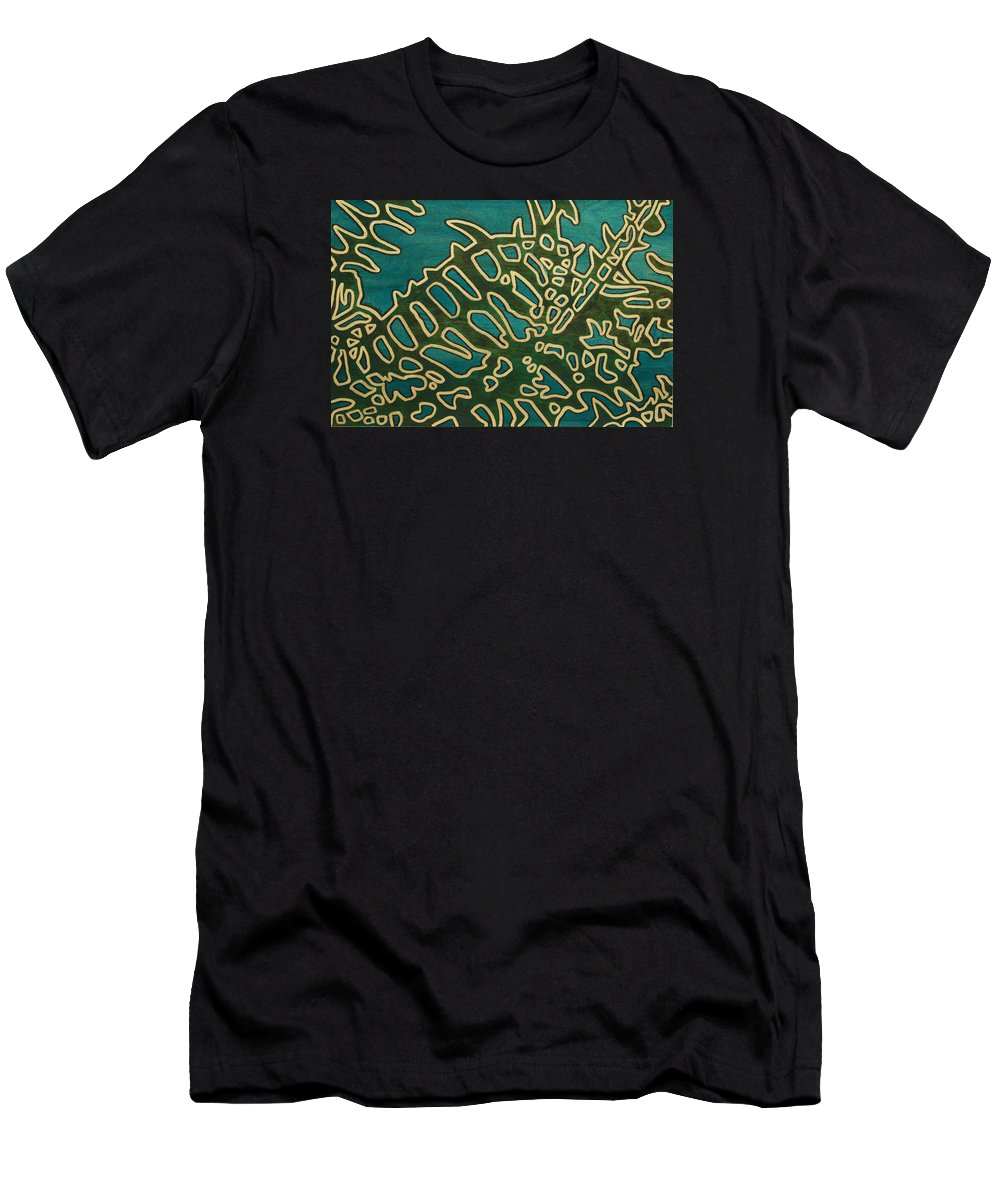 Jennifer Counts Men's T-Shirt (Athletic Fit) featuring the painting Saint Nephrolepis Exalta No.2 by Jennifer Counts
