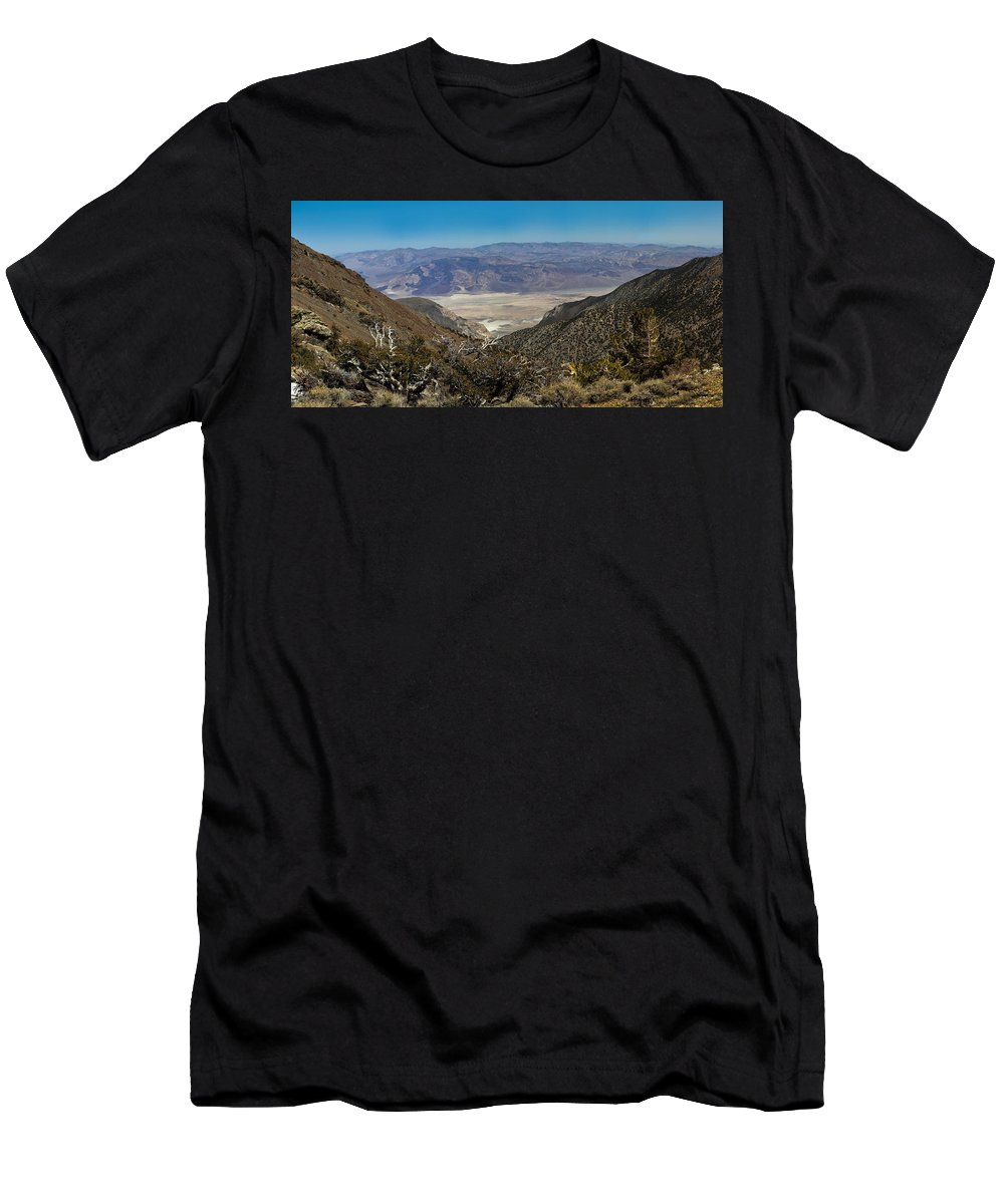 Landscape Men's T-Shirt (Athletic Fit) featuring the photograph Saline Valley Panorama by David Salter