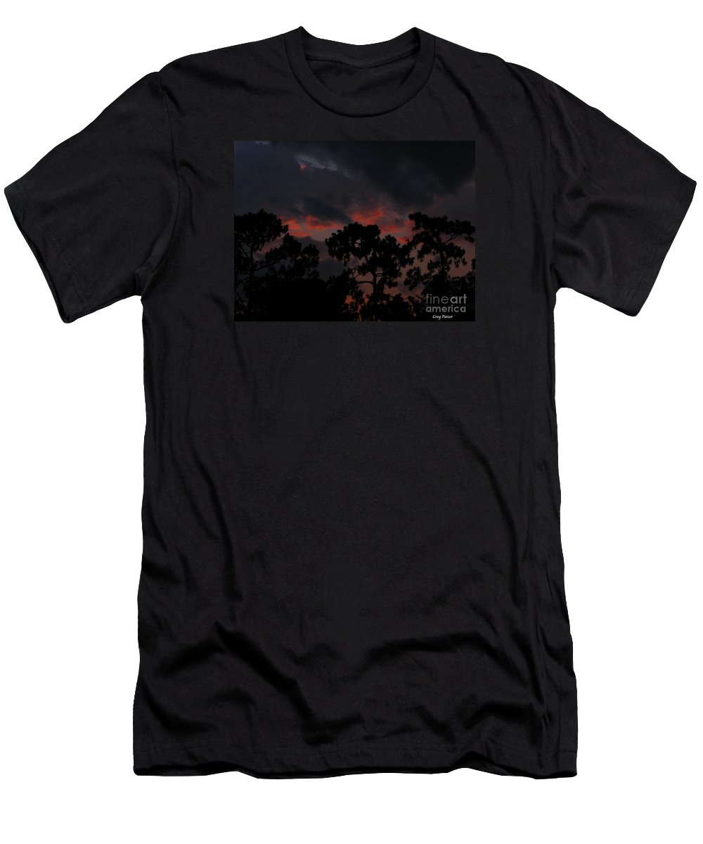 Art For The Wall...patzer Photography Men's T-Shirt (Athletic Fit) featuring the photograph Salmon Sunset by Greg Patzer