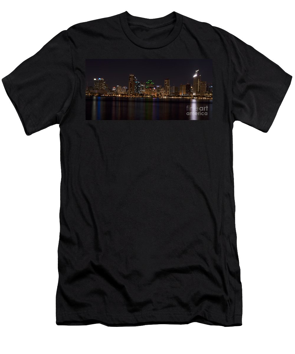 Panoramic Men's T-Shirt (Athletic Fit) featuring the photograph San Diego California by Anthony Totah