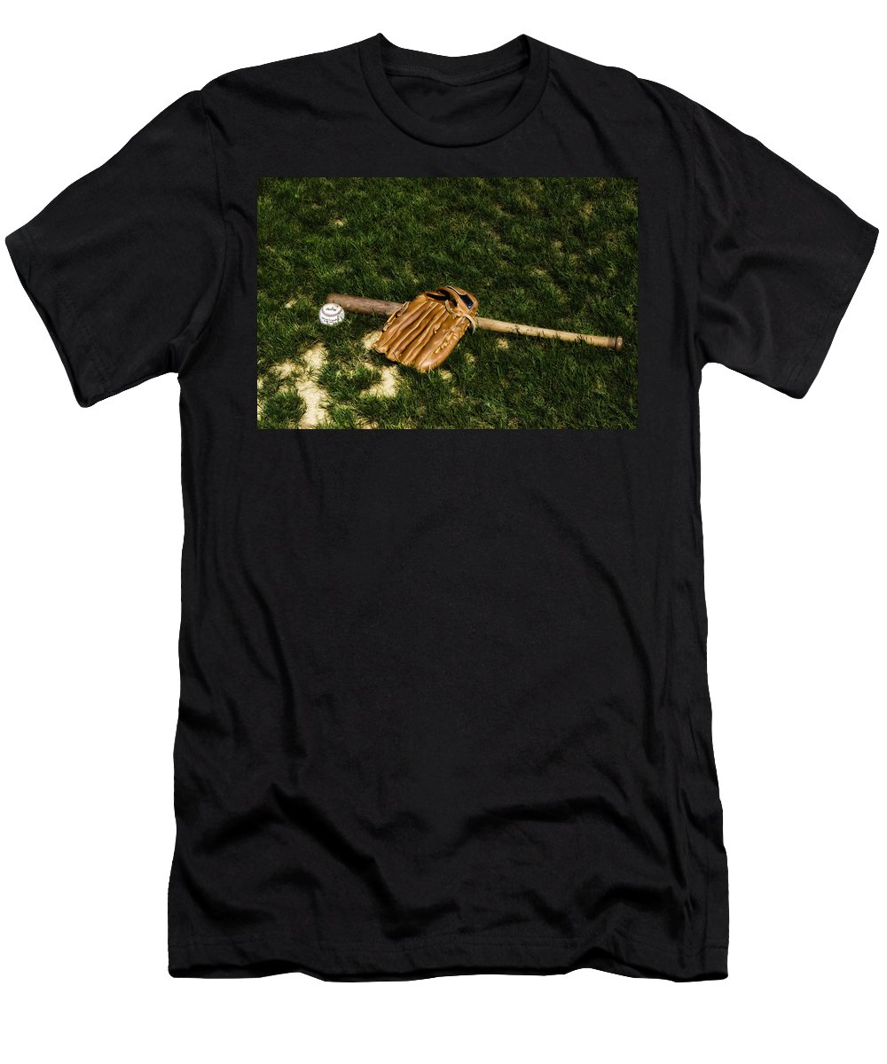 Sand Men's T-Shirt (Athletic Fit) featuring the photograph Sand Lot Baseball by Bill Cannon