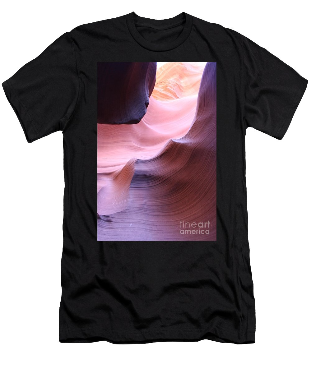 Sandstone Men's T-Shirt (Athletic Fit) featuring the photograph Antelope Canyon Sandstone Waves by Christiane Schulze Art And Photography