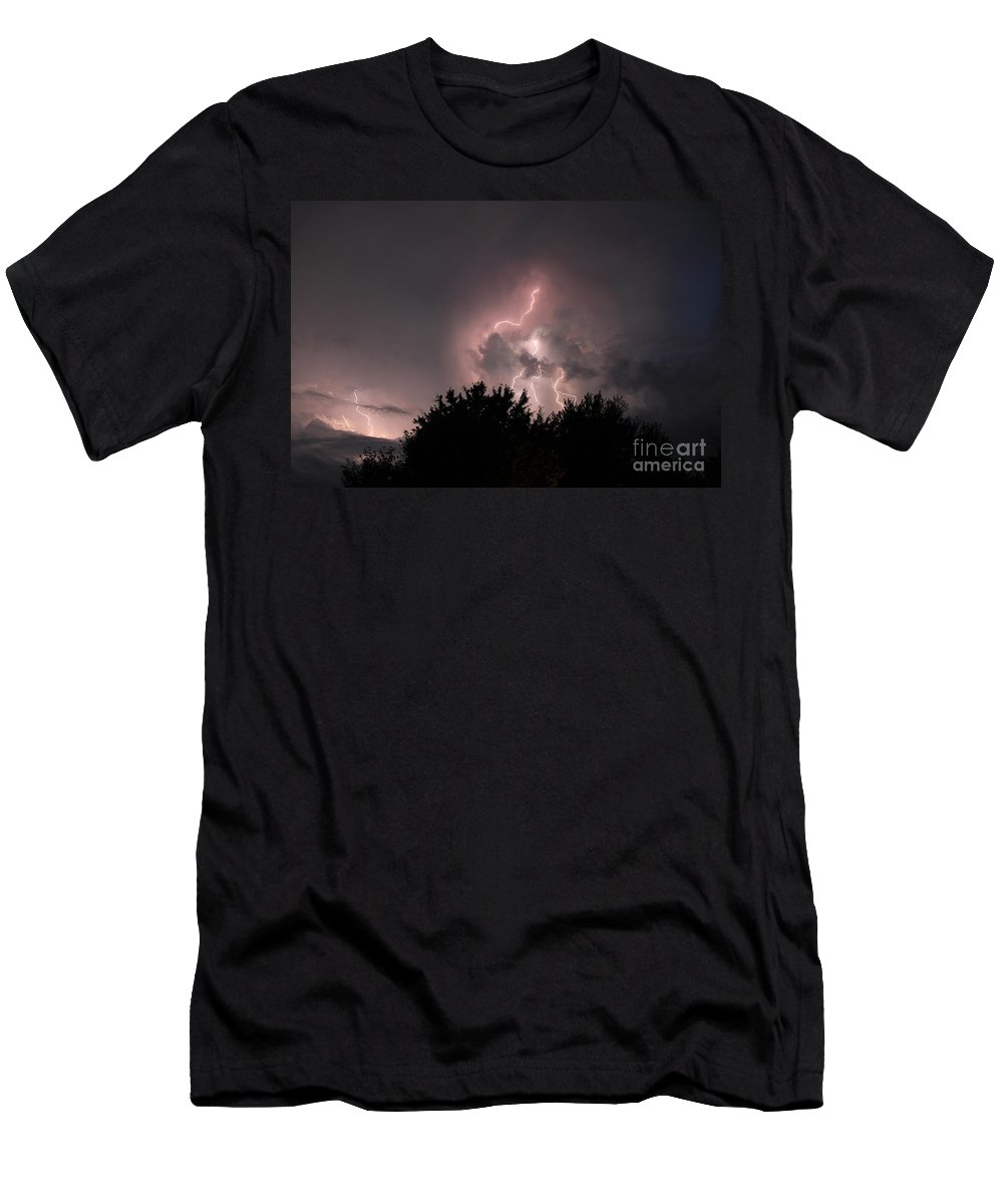 Sks Men's T-Shirt (Athletic Fit) featuring the photograph Sandy Pines Storm by Steven K Sembach