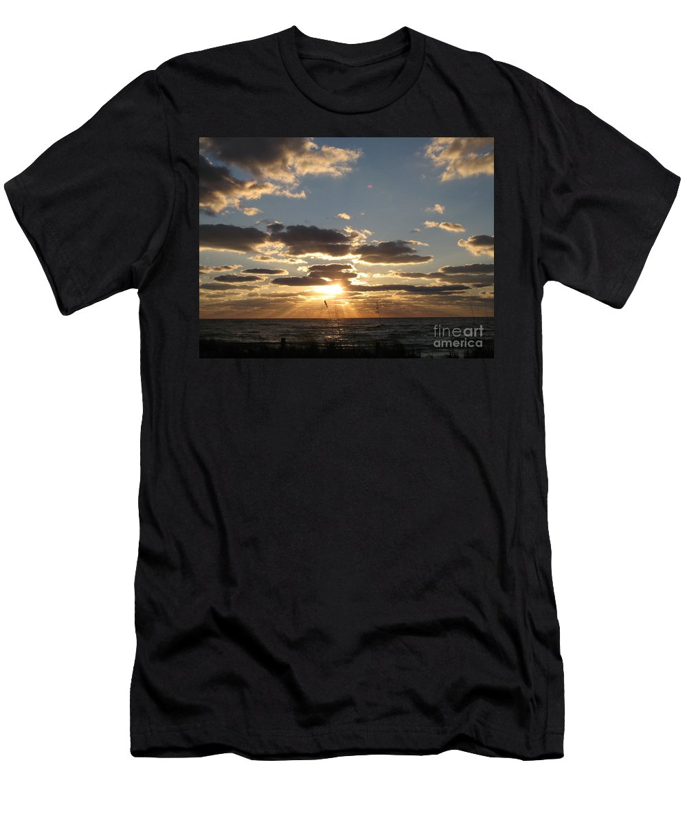 Sunset Men's T-Shirt (Athletic Fit) featuring the photograph Sanibel Sunset by Christiane Schulze Art And Photography